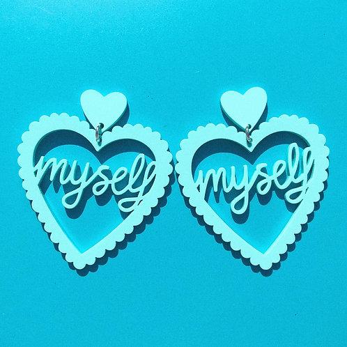 LOVE MYSELF  aquamarine