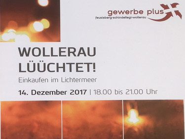Wollerau Lüüchtet am 14. Dezember
