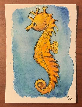 Baby Golden Seahorse