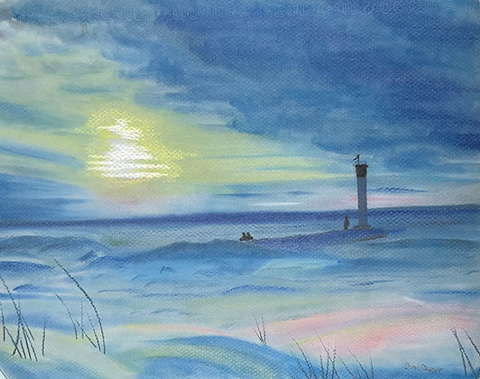 Winter Sunset at Grand Bend Pier