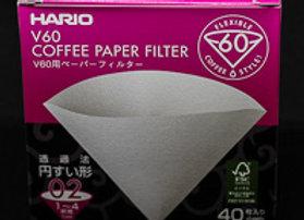 Hario V60 papirnati filtri 02 (40 kom) - BELI