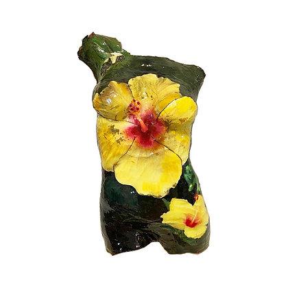 Yellow Hibiscus Body Cast