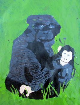 Gorilla and Baby