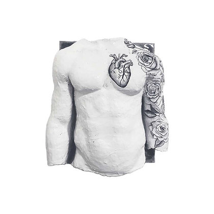 Heart and Roses Body Cast