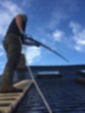 Demoussage d'une toiture à Guichen