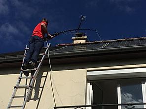 Démoussage d'une toiture à Bain de Bretagne