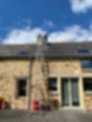 Ramonage de cheminee par le toit secteur bruz guichen pont rean bain de bretagne rennes 35 crevin guignen redon saint just grand fougeray