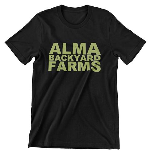 Black T-Shirt with Green Logo
