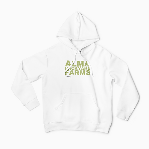 White Hoodie with Green Logo