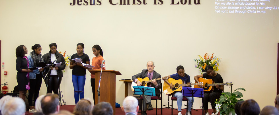 Baprism Youth singing and Guitars 2nd Fe