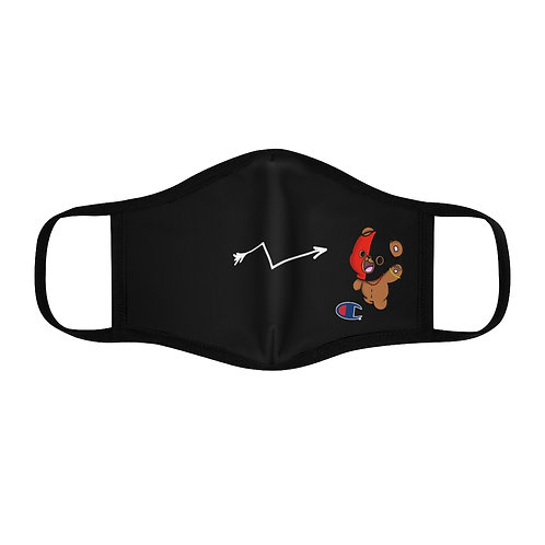 """""""eshu bear"""" Fitted Polyester Face Mask"""
