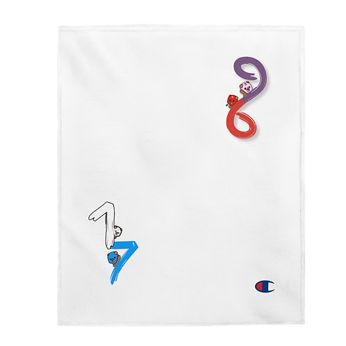 """Big """"4"""" Velveteen Plush Blanket"""