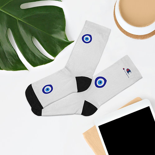 Evil eye champion socks