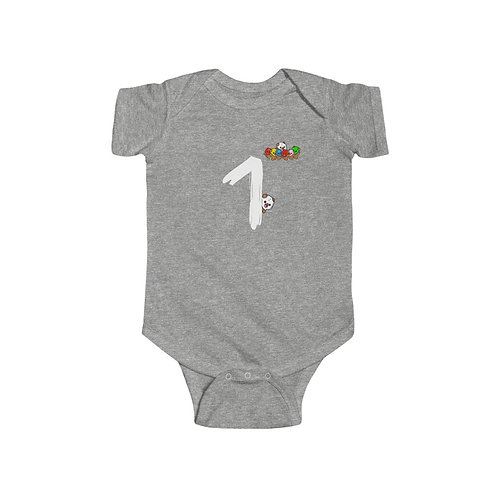 """#1"" Infant Fine Jersey Bodysuit"