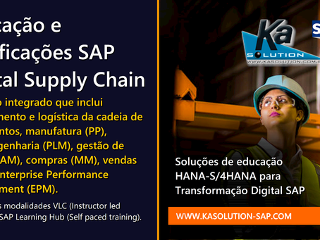 Educação e certificações SAP Digital Supply Chain