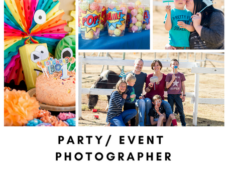 SAVE 10% ON EVENTS/ PARTY PHOTO-SHOOT