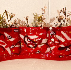 Red Pocket Vase