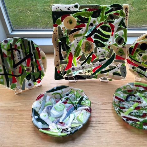 Salt and Pepper Plates and Platter