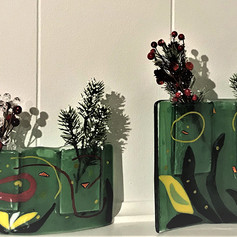 Two Green Vases