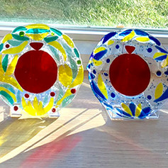 Pomegranate Plates