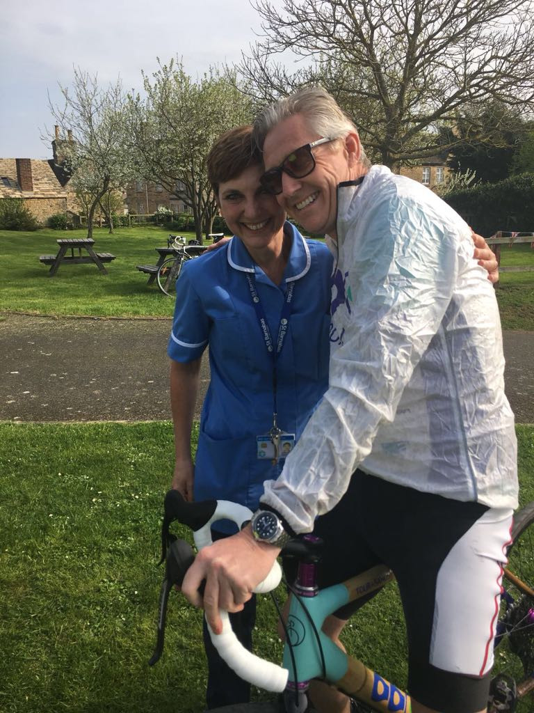 Jerry with Nurse Cheryl at the Reunion Ride