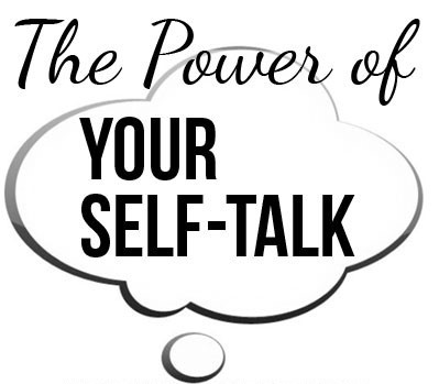 "Thought bubble saying ""The Power of your self-talk"