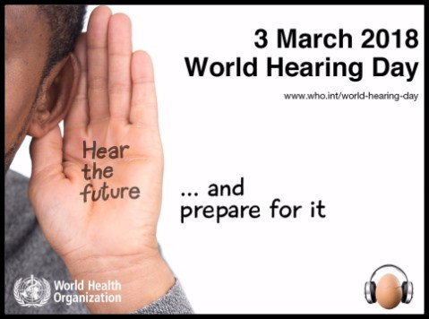 image of a man holding his hand to his hear with the text Hear the future and prepare for it