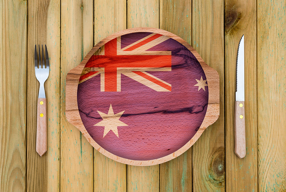 Australian themed dinner plate and setting