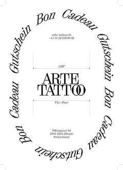 Arte Tattoo Bon cadeau