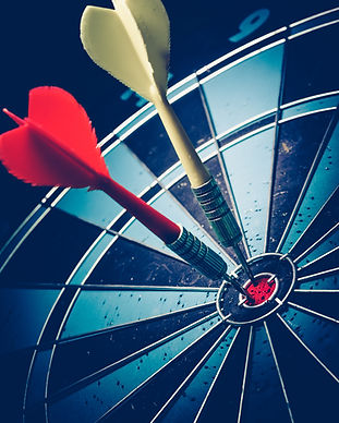 Bullseye is a target of business. Dart i