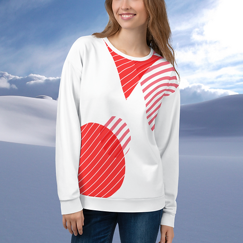 Candy Cane Geometric Unisex Sweater