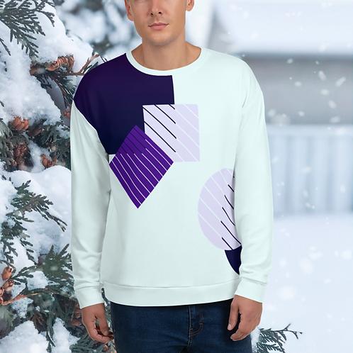 Bright Winter Geometric Unisex Sweater