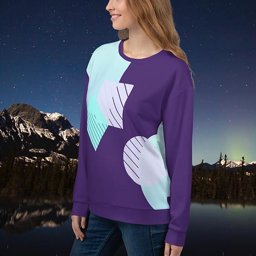 Midnight Winter Geometric Unisex Sweater