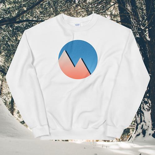 Warm Winter Mountains Unisex Sweatshirt