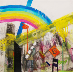 The Geilord Apartment, 2014, Mixed media on mylar, 28x28 Inches (1)