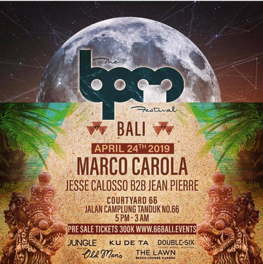 BPM Bali Marco Carola