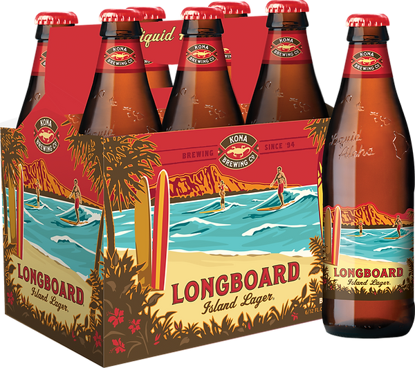 KO Longboard Lager 12oz bottle 6 pack pl