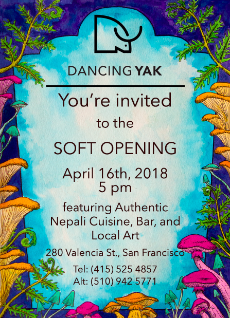 Marketing Flyer for Dancing Yak