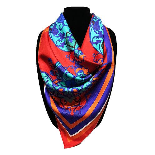 "Printed Silk Twill (22"" x 22"")"