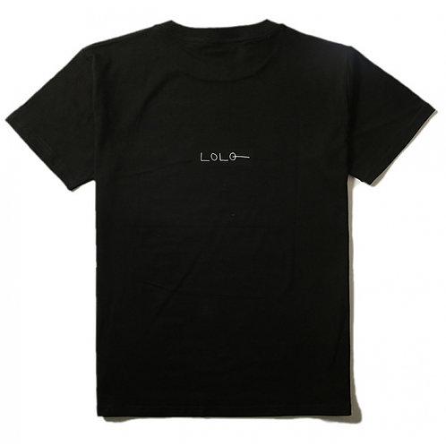 Logo middle T-shirt black mens