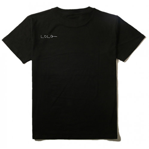 Logo chest T-shirt black mens