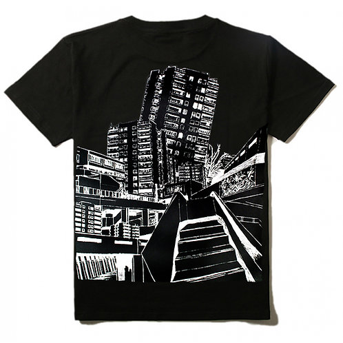 Block Art T-shirt Bold black mens