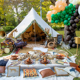 Safari Dinner and Chill Tent
