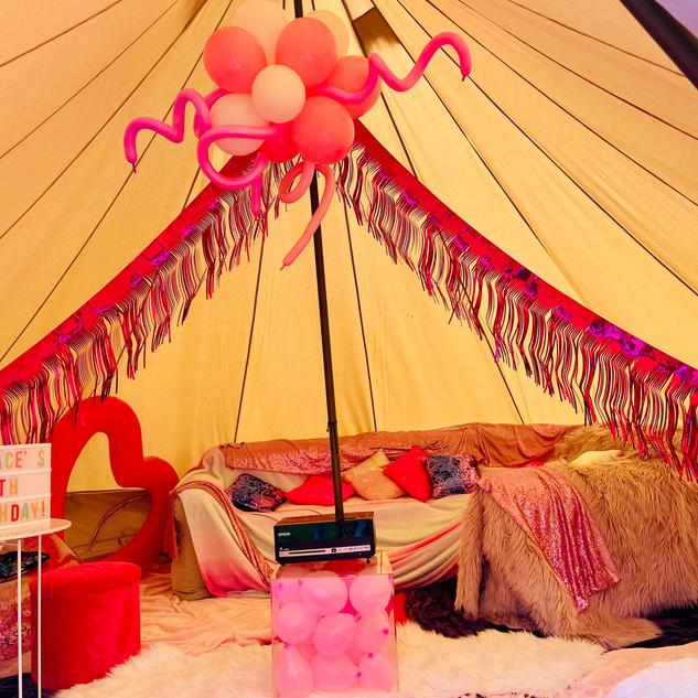 Girls Tent Movie Night