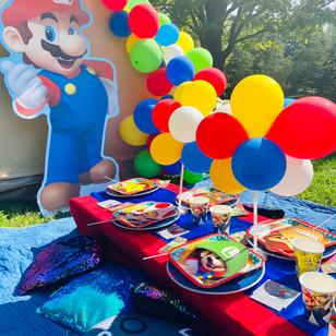 Super Mario Picnic & Video Game Tent