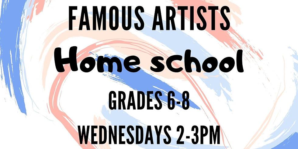 Famous Artists 6th-8th Homeschool