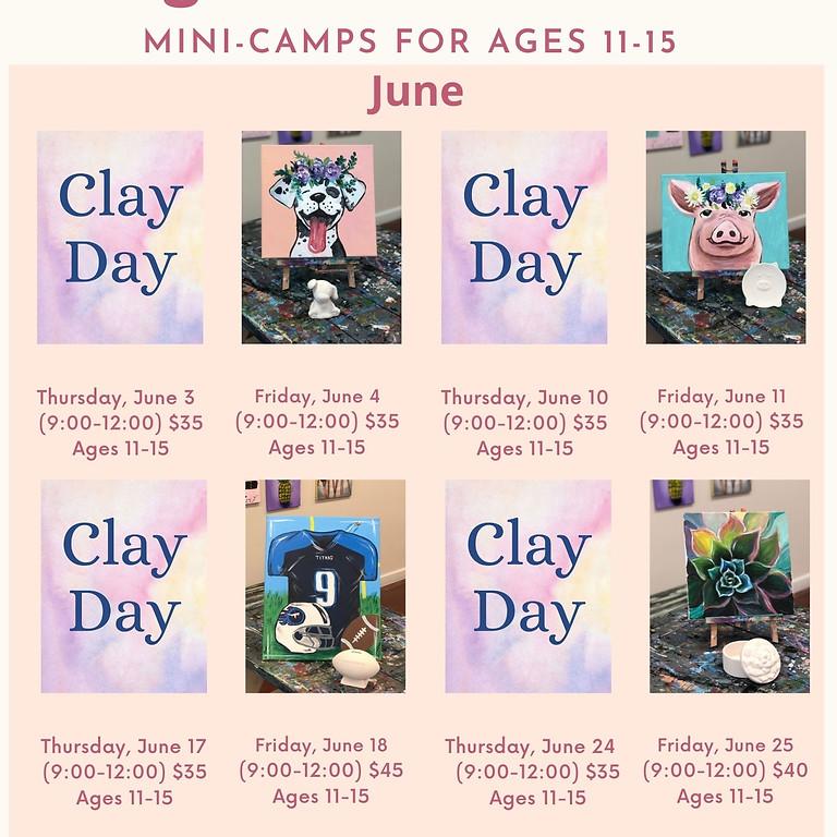 June Mini-Camps: Ages 11-15