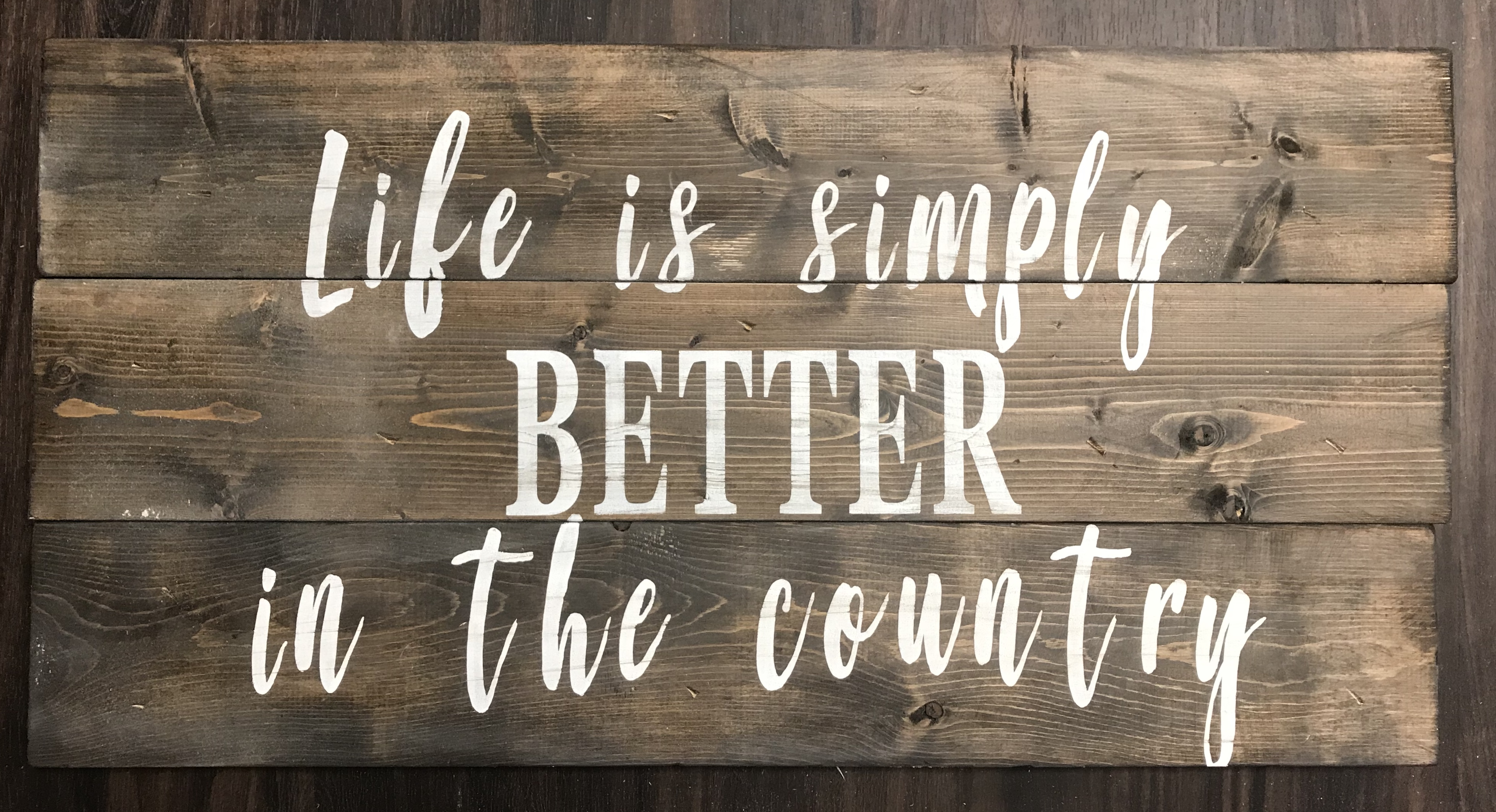 Life is simply better in the country