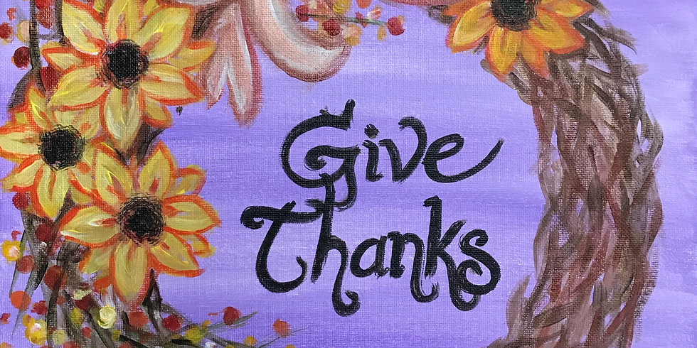 Give Thanks Wreath Painting