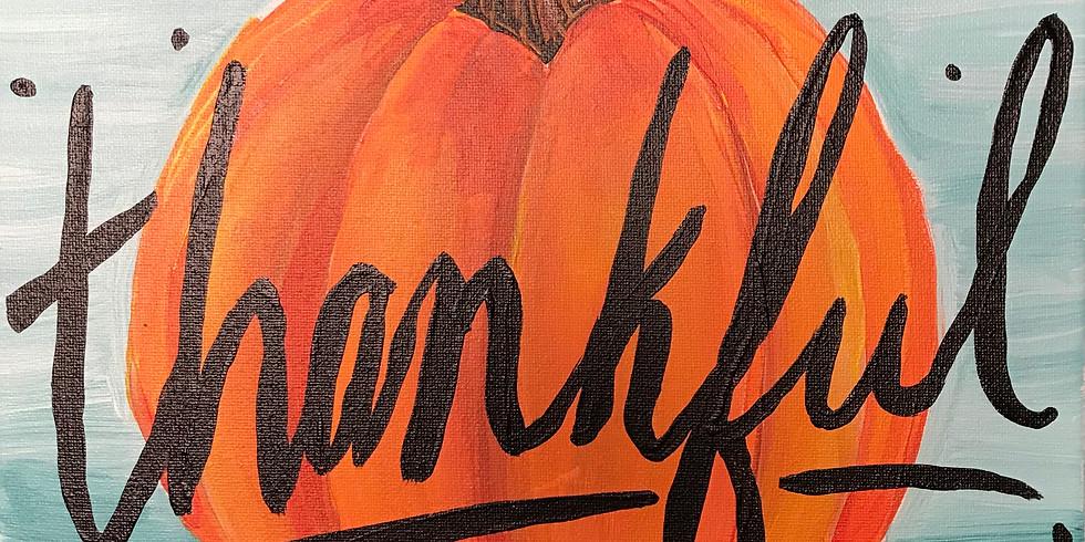 Thankful Pumpkin Canvas